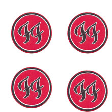 Popular fashion red bottom black word embroideryFOO FIGHTERS Grohl Rock Metal Music Embroidered Patch Badge Iron Sew On Clothing(China)