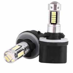 2xSuper White 30W 30Pcs 4014 Smd H27 880 Led Bulb For Cars H27W/1 H27W1 Auto Fog Light DRL 12V Driving Daytime Running Light(China)
