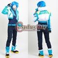 Free Shipping Custom-made Anime  Dramatical Murder Seragaki Aoba Cosplay Costume( Coat +T-shirt+Belt+Shoe Cover)
