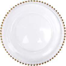 gold glass beaded charger tableware dinner plates dishes dinnerware 1 piece(China)  sc 1 st  AliExpress.com & Buy gold dinner plates and get free shipping on AliExpress.com