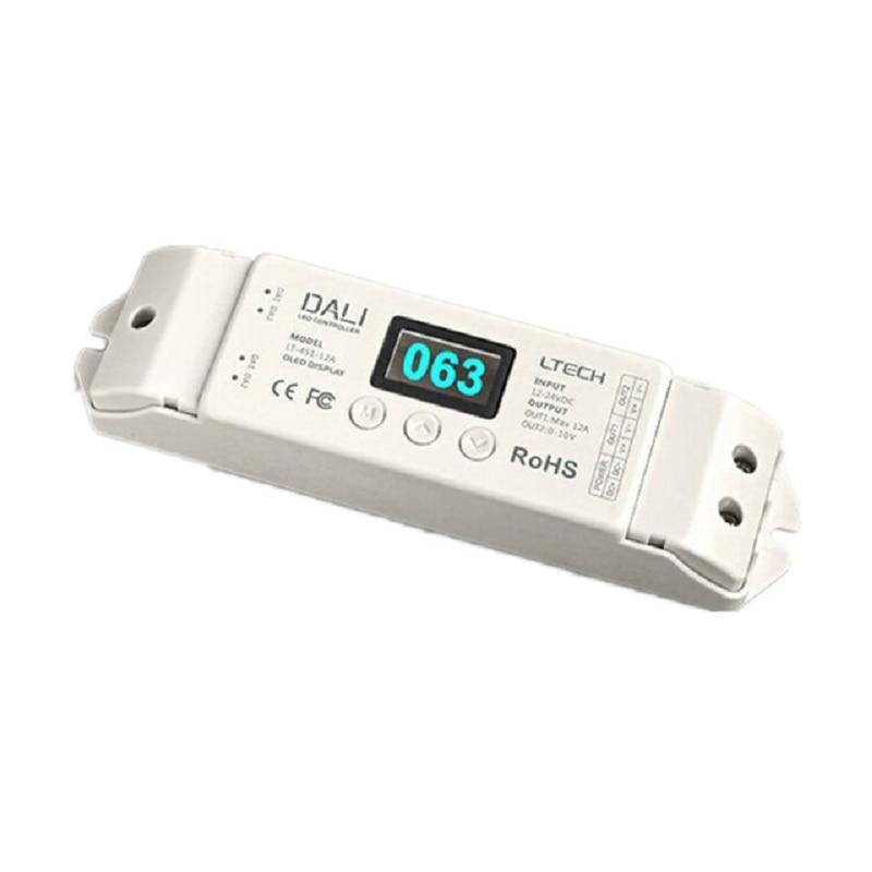 Livraison gratuite Ltech DC12-24V LT-451-12A DALI variateur pour LED 12A * 1CH canal sortie PWM Dimmable pilote DALI Bus LED pilote