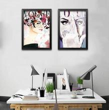 Rectangle Modern Fashion Beauty Canvas Art Print Painting Wall Pictures For Clothing Store Bar Home Decor Unframed