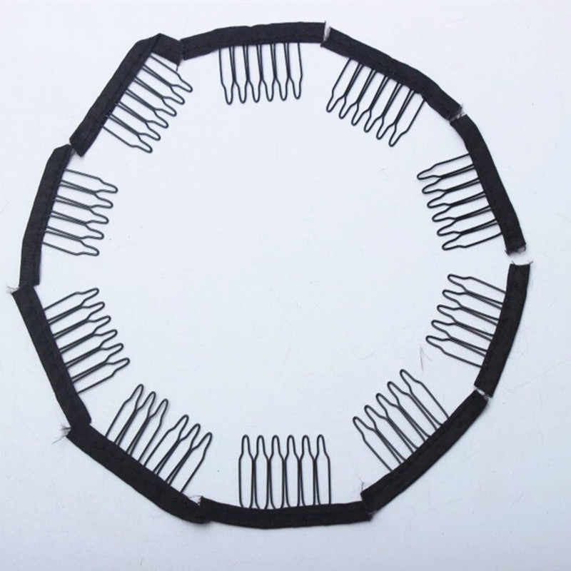 Горячая продажа 30 шт 50 шт 100 шт прочные черные заколки для волос заколки для наращивания маленький парик расчески зажимы для париков шапки
