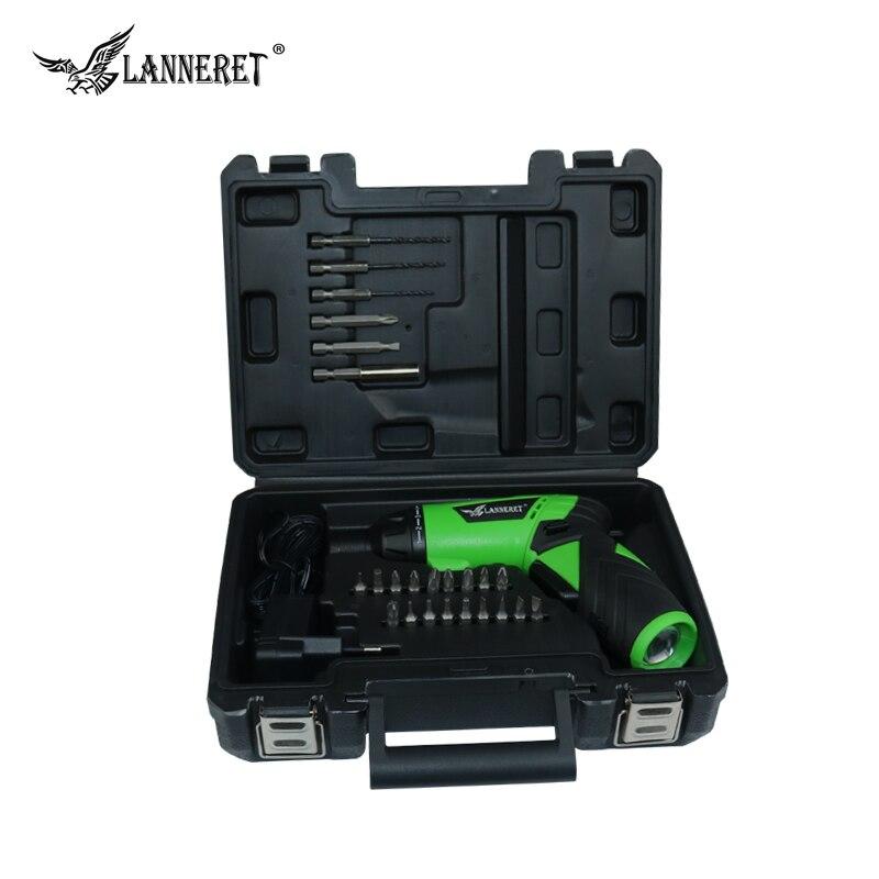 LANNERET CS3.6HL01 3.6 V Au Lithium-Ion Sans Fil Tournevis Électrique avec Twistable Poignée Rechargeable et 24 Pièce Accessoires
