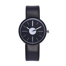 Brand Hot Selling Klockor Mode Casual Women Quartz Watch Ultrathin Mycket Mjukt Läder Armbandsur Relogio Feminino Clock