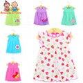 Bebê girls dress bebê summer dress 4 pçs/lote atst0001 marca de roupa do bebê por atacado