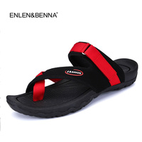 2017 Summer Cool Men Slippers Sandals Beach Slippers Leather Comfortable Fashion Slippers Men Flip Flops Quality