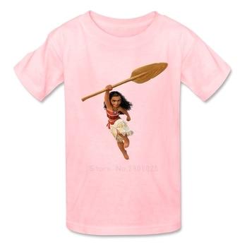Moana Boys Girls T Shirt 100% Cotton Short Sleeve Crew Neck Tshirt Children Costume 2018 Lovable T-shirt For Kids