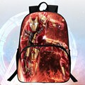 Wholesale  2016 Hot Sale Polyester Prints Avengers Iron Man  Black Boys School Backpacks Child Schoolbags Infantile Mochila