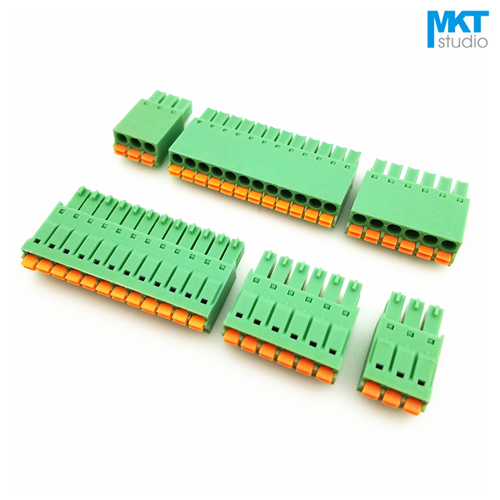5PCS KF141R KF141V 2.54mm Pitch PCB Connectors Spring Screless Terminal Block ES