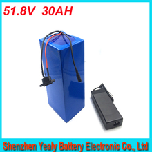 high quality 1000 time cycle 1500w 14S BMS Electric Bike Lithium Ion Battery 51.8v 30ah charger battery lithium 52v bike battery