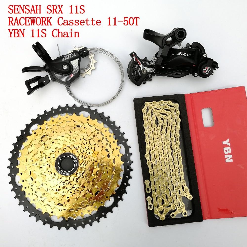 Apprehensive Racework Srx 11 Speed Mtb Derailleurs Groupset Racework 11-50t Cassette Ybn Chain 4 Piece Set For Sram Shimano Xt Driving A Roaring Trade