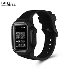 Laforuta for Apple Watch Case with Band 44mm 40mm Shockproof Series 4 Bumper Cover Silicone Waterproof iWatch Strap 2019