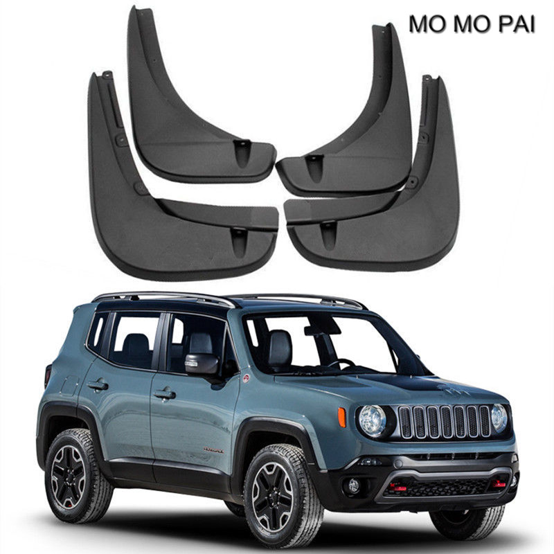 BEESCLOVER 4pcs Car Mud Flaps Mudguard Fenders Splash Guards for Jeep Renegade 2015-2016