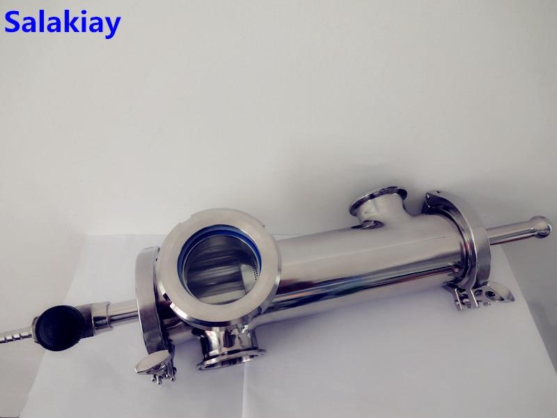 New Type 3(76mm)OD91 Gin Basket Set For Distillation,2*Side Ports 2(51mm)OD64 With Filter Of V-680ml,Length 300mm SS304