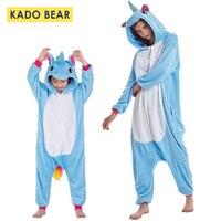 Children Flannel Pajamas Kids Unicorn Sleepwear Family Matching Mother Daughter Pyjamas Baby Girls Boys Pijamas Clothes Outfits