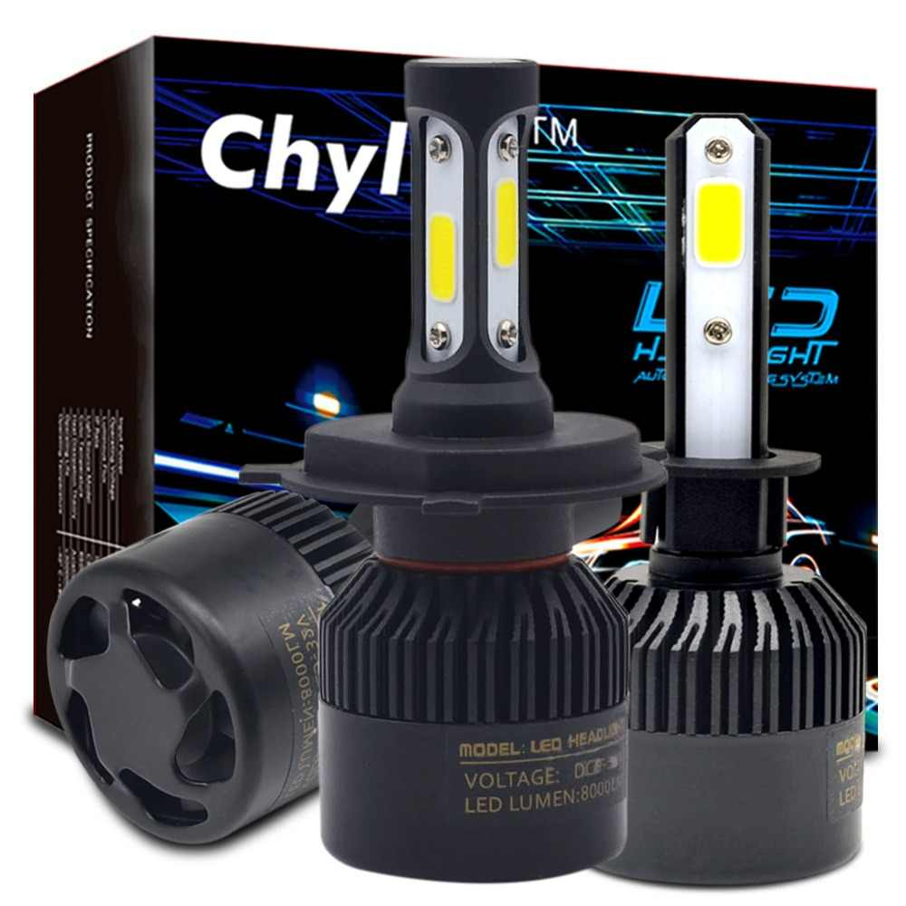 2Pcs H1 LED Bulb H4 H7 H11 H3 H9 H27 HB4 HB3 9005 9006 881 Led Headlight 72W 8000LM Auto Car Light Bulbs 6500K Fog Lamp