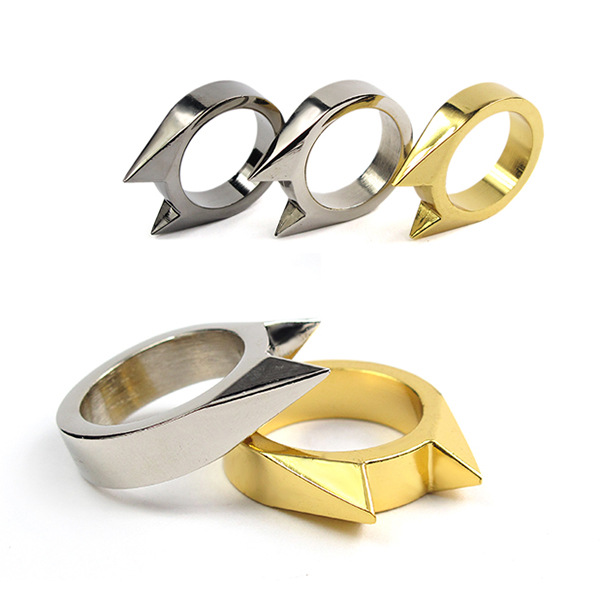 Trendy Cat Ear Self Defence Finger Ring Pendant Keychain Multifunction Outdoor Survival  ...