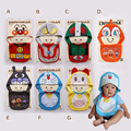 children baby girl and boy lovely cartoon anpanman shape bibs child bibs and hat set