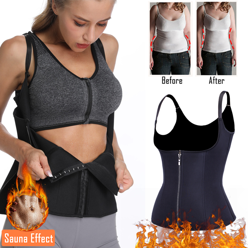 Miss Moly Body Shaper Waist Trainer Cincher Corset Modeling Belt Women Zipper Hook Tummy Control Slimming Neoprene Shapewear