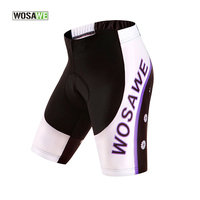 WOSAWE Women Summer Cycling Bike Outdoor Sports Shorts Racing Bicycle Padded Underwear Ladies Bike Cycle Shorts Cycling Cothing