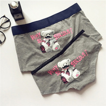 Cartoon Briefs Comfortable Couple Underwear Cotton Panties Mens Short Women for
