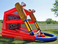 Outdoor movable fun inflatable kids games, inflatable baseball goal for sport games