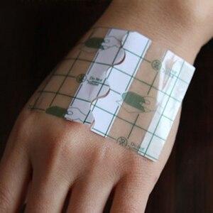 Image 2 - 100 adet/takım şeffaf bant PU film yara bandı su geçirmez Anti alerjik tıbbi yara pansuman bant