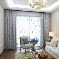 DSinterior Classic Design European Style Jacquard Blackout Curtains And Tulle Custom Made Curtains For Bedroom 0113