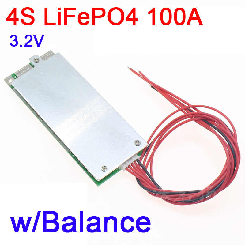4S 100A 12V  with Balance LiFePO4 Lithium battery Protection Board BMS 3.2V UPS inverter energy storage for e-bike