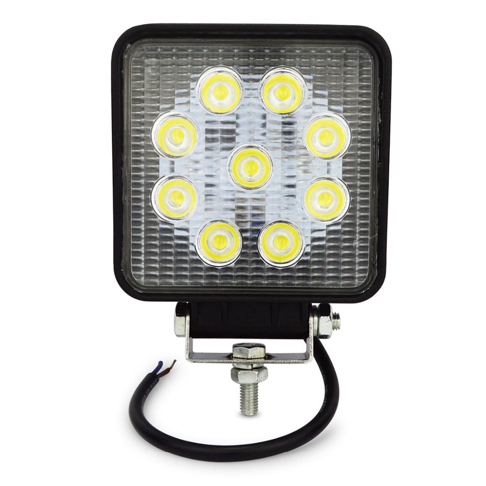 4inch 27w led work light flood spot far light led work lamp for Tractor Boat Off-Road 4WD 4x4 led light work driving light 1pcs 120w 12 12v 24v led light bar spot flood combo beam led work light offroad led driving lamp for suv atv utv wagon 4wd 4x4
