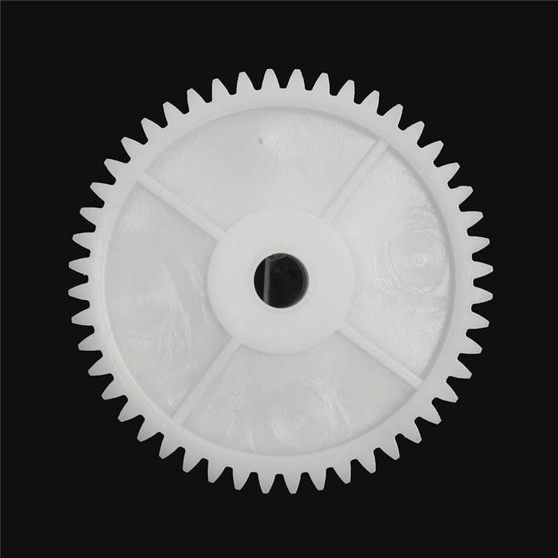 MTGATHER 1x Plastic White Gear Hol e 8mm For 550 Motor Children Car Electric Vehicle Electric long service life Gear Accessorie