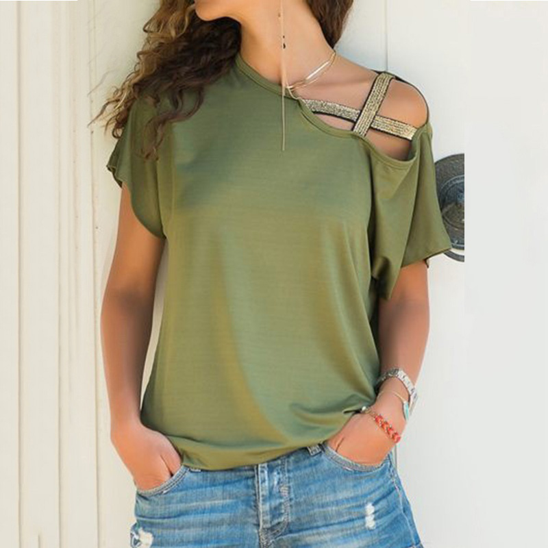 Duiyt Solid Color Women Clothes Casual Womens Bohemian Short Sleeve O Neck Lace Patchwork Tops Tee Shirt Top Red XL United States