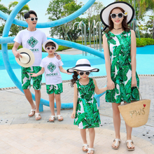 цена на 2019 family matching outfits mother daughter dresses father son mommy and me clothes family look mom mum daughter dress clothing