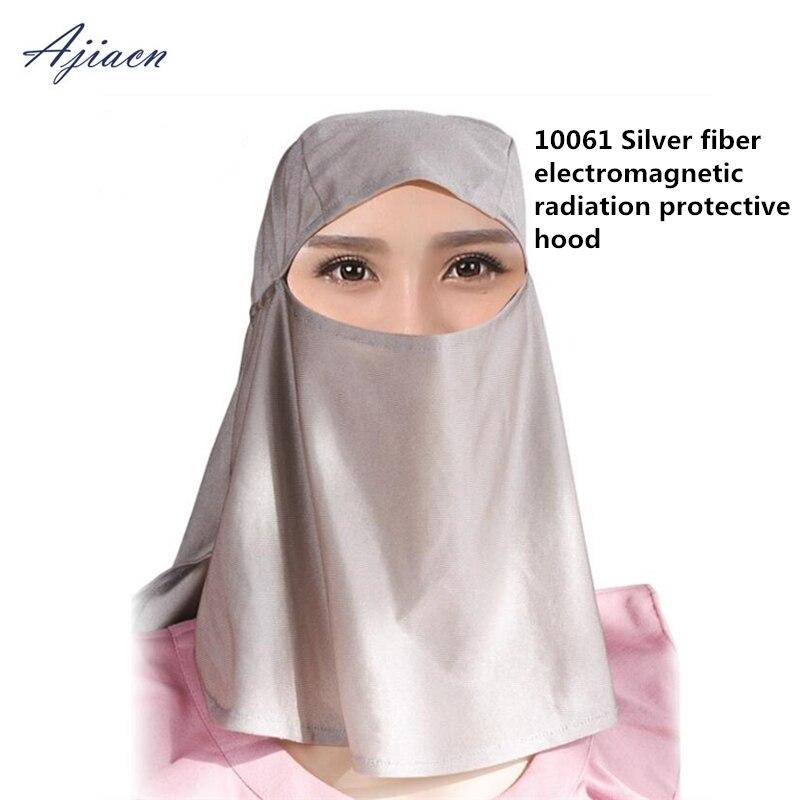 Les fabricants vendent un masque de protection contre les rayonnements électromagnétiques en fiber d'argent