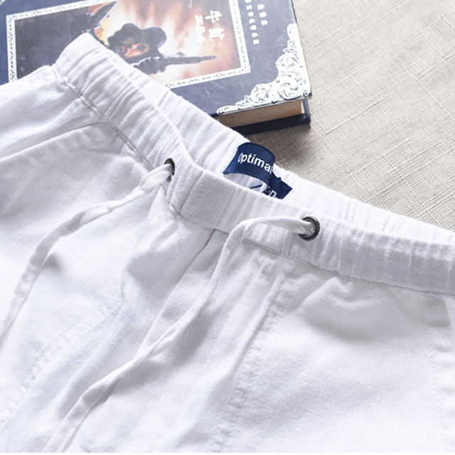 Spring And Summer Men Fashion Brand Chinese Style Cotton Linen Loose Pants Male Casual Simple Thin White Straight Pants Trousers 2