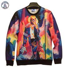 2017 Mr.1991INC New fashion men/women hoodies print king Roll Rock Michael Jackson 3d sweatshirt hip hop hoody 3d casual pullove