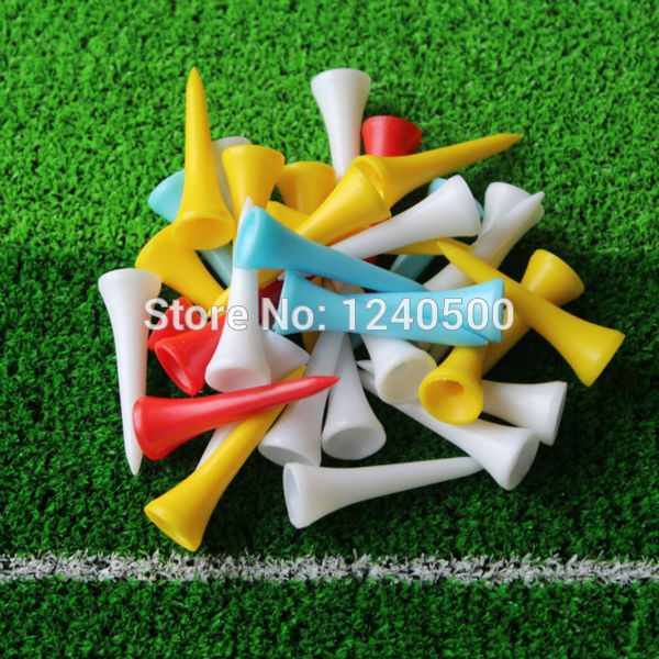 Free Shipping 100Pcs/lot 42mm Mixed Color Plastic Golf Tees
