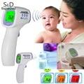 Nova Multifuncional Bebê Adulto Termômetro Eletrônico Três cor-luz de Fundo Não-contato Termômetro Infravermelho Corpo Testa Arma
