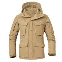 미국 영국 M65 야외 윈드 브레이커 자켓 내부 소프트 쉘 남성 윈드 브레이커 자켓 전투 전술 군사 Thicken Winter Jacket