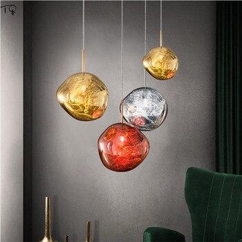 Современная Новинка, лава, стеклянная лампа, Скандинавская творческая личность, светодиодная Подвесная лампа, для гостиной, столовой, кабин...