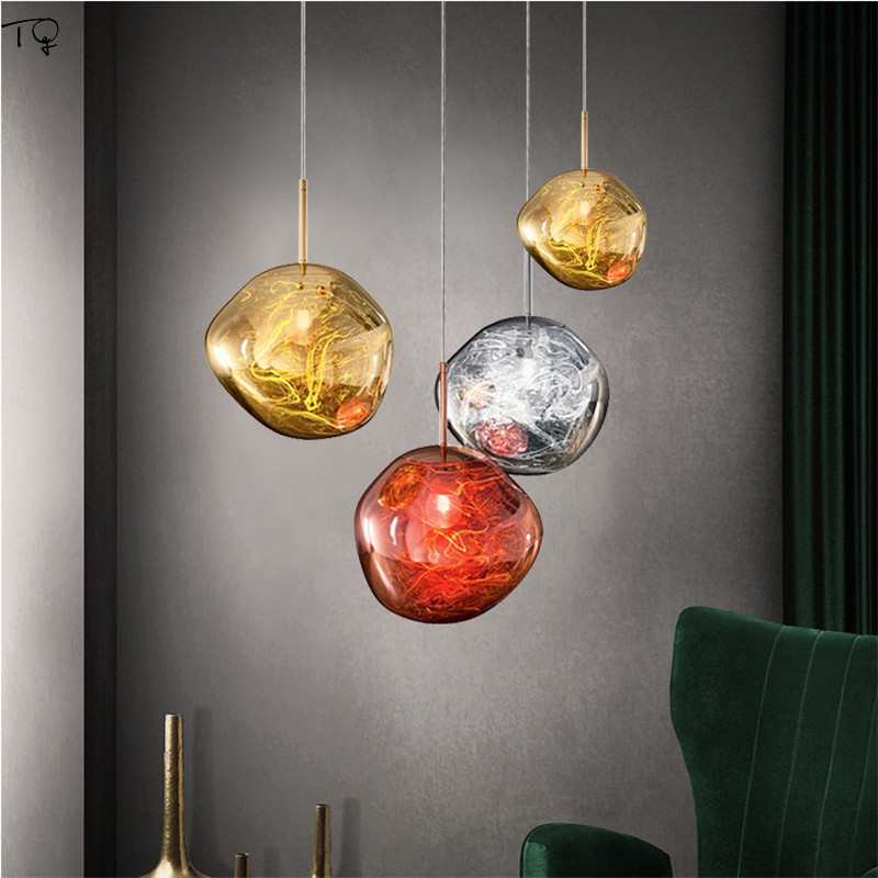 Modern Novelty Lava Lamp Glass Nordic Creative Personality Led Hanging Lamp Living Room Dining Room Study Bedside Bar Kitchen in Pendant Lights from Lights Lighting