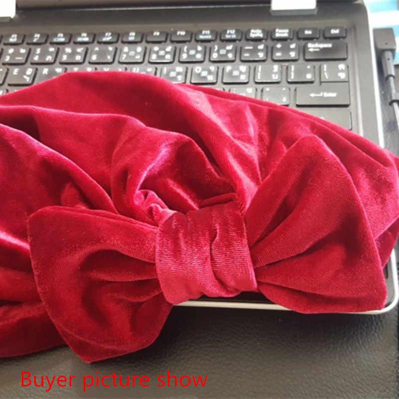 Модные женские бантики хиджаб бархатная шапочка химиотерапия шляпа мусульманский тюрбан банданы для свадебной вечеринки аксессуары для волос mujer