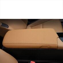 lsrtw2017 fiber leather car armrest cover for lexus es200 es260 es300h es350 f sport 2018 2019 2020