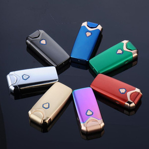 Image 2 - New USB Thunder Lighter Rechargeable Electronic Lighter Cigarette Plasma Double Arc Palse Pulse Windproof Gadgets for Men Gift