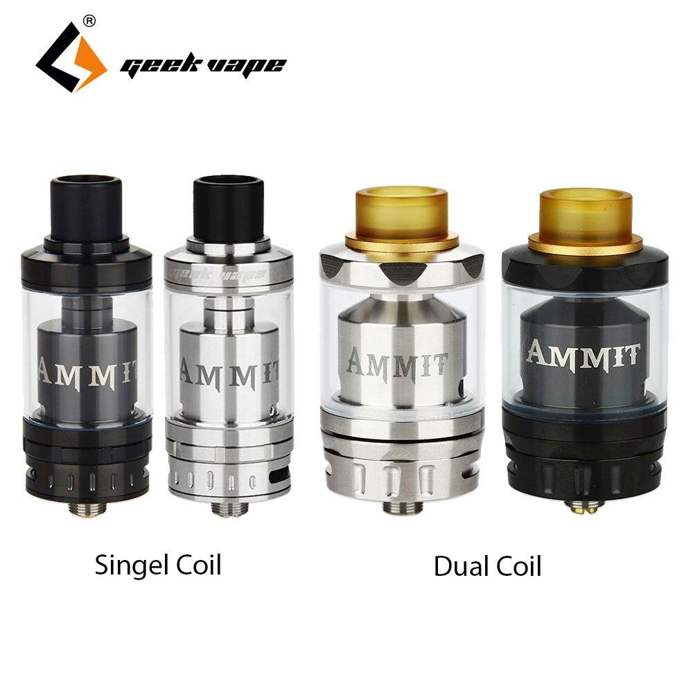 Original Geekvape Ammit RTA Dual Coil/Single Coil Tank Atomizer 3.5ml Ammit Rta & 3ml/6ml Ammit Dual Coil Top refill e cigs недорого