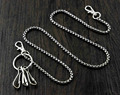 Strong Basic Box Chain Heavy Linked Biker Jeans Wallet Key Chain WCS04 Silver YL-21