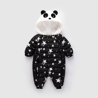 Baby Boy Polar Fleece Snowsuit Winter Panda Baby Rompers Overalls Bodysuit Jumpsuit Girl infant Snow Wear WUA880601