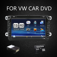 2 Din 8 VW PASSAT Variant Car Dvd Player With GPS Touch Screen Steering Wheel Control