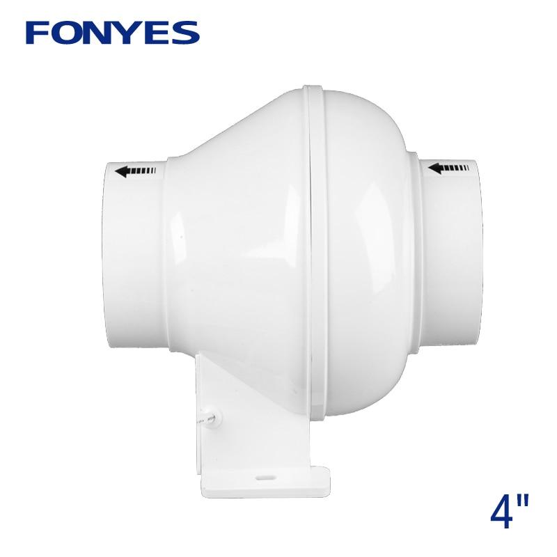 4 inch inline duct fan pipe extractor exhaust fan mini ventilation fan for ceiling bathroom fan kitchen toilet ventilator 220V